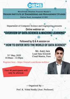 Webinar on Overview of Data Science & Machine Learning By Amit Jain