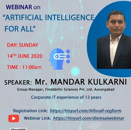 """WEBINAR ON """"ARTIFICIAL INTELLIGENCE FOR ALL"""""""