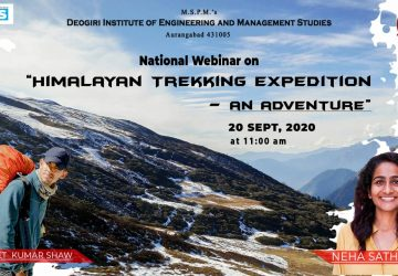 """National Webinar on "" Himalayan Trekking Expedition-an Adventure"""