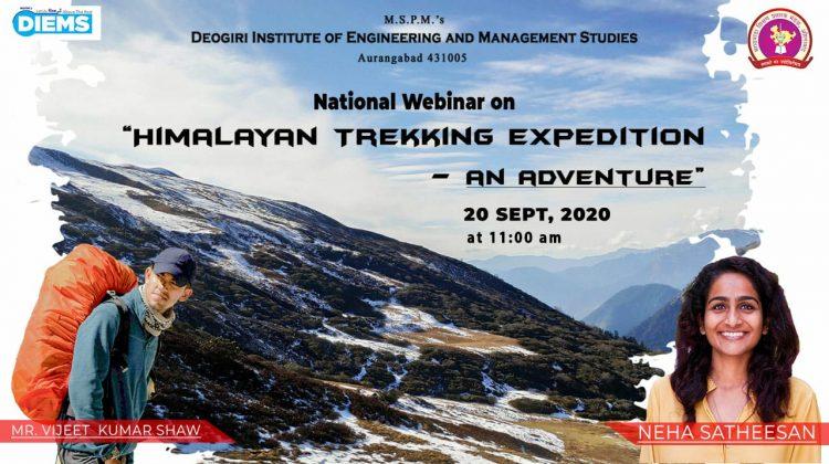 """National Webinar on "" Himalayan Trekking Expedition-an Adventure"""