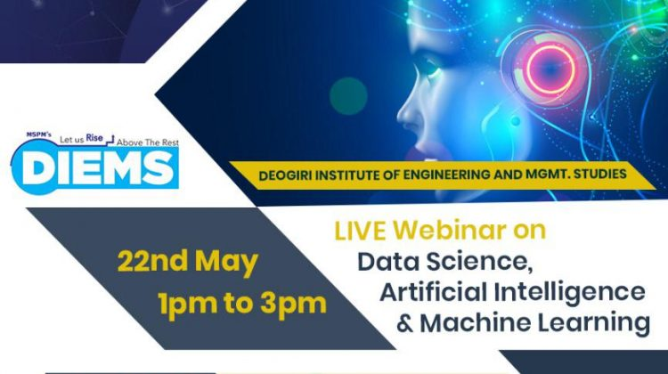 """Webinar on """" Data Science, Artificial Intelligence and Machine Learning"""""""
