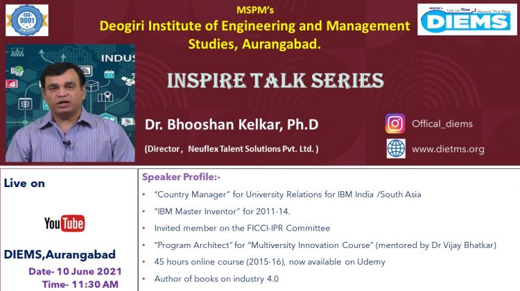 Inspire Talk by Padma Shri Dr.Bhooshan kelkar